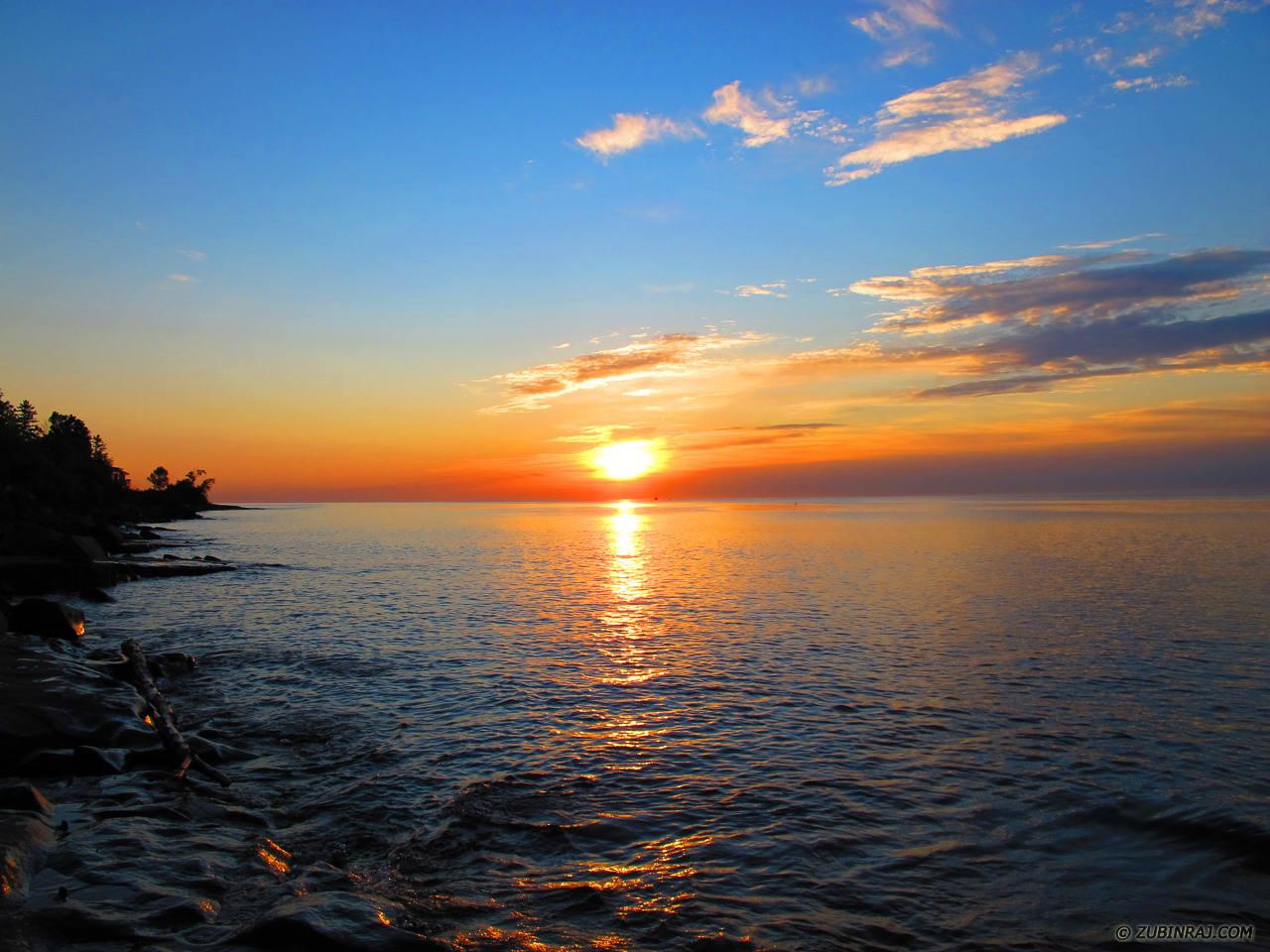 Sunset-At-Beach-Duluth-4408